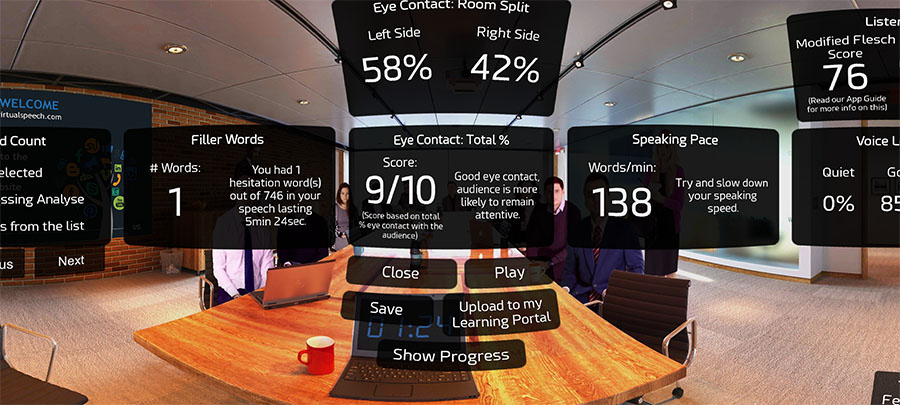 VR Speech Analysis